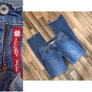 Lucky Brand Dungarees Flare Denim Jeans 29x29